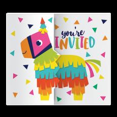 Fiesta Fun Gatefold Invitations 11cm x 13cm Pack of 8