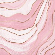 Rose Gold Bridal Shower Rose All Day Geode Design Lunch Napkins Pack of 16