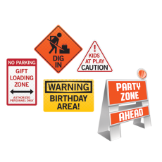 Big Dig Construction Easel & Wall Signs Decorating Kits