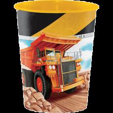 Big Dig Construction Keepsake Souvenir Favour Plastic Cup 473ml