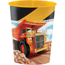 Big Dig Construction Keepsake Souvenir Favour Plastic Cup