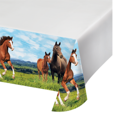 Horse and Pony Plastic Table Cover 137cm x 259cm