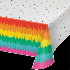 Fiesta Fun Plastic Table Cover 137cm x 259cm