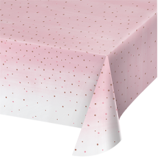 Bridal Shower Rose Gold Rose All Day Dots Table Cover