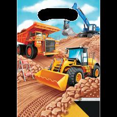 Big Dig Construction Loot Favour Bags 23cm x 16cm Pack of 8