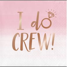 Rose Gold Bridal Shower Rose All Day I Do Crew! Beverage Napkins Pack of 16