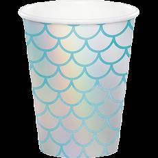 Mermaid Shine Iridescent Paper Cups 266ml Pack of 8