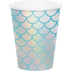 Mermaid Shine Iridescent Paper Cups