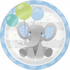 Boy Enchanting Elephant Paper Dinner Plates