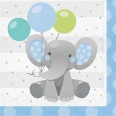Boy Enchanting Elephant Lunch Napkins Pack of 16