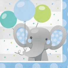 Boy Enchanting Elephant Beverage Napkins
