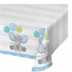Boy Enchanting Elephant Paper Table Cover