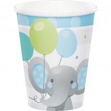 Boy Enchanting Elephant Paper Cups 266ml Pack of 8