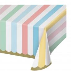 Pastel Celebration Paper Table Cover 137cm x 259cm