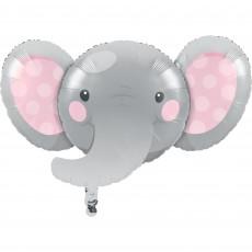Girl Enchanting Elephant Foil Shaped Balloon 53cm x 89cm