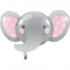 Girl Enchanting Elephant Foil Shaped Balloon