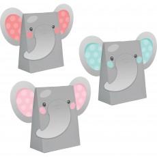 Girl Enchanting Elephant Paper Treat Favour Bags 18cm x 11cm Pack of 8