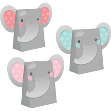 Girl Enchanting Elephant Paper Treat Favour Bags
