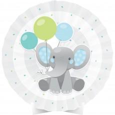 Boy Enchanting Elephant Paper Fan Centrepiece 40cm