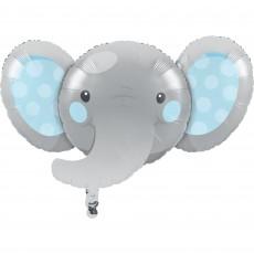Boy Enchanting Elephant Foil Shaped Balloon 53cm x 89cm