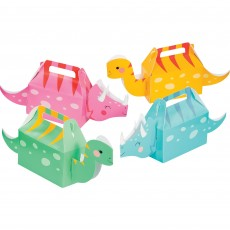 Dinosaur Girl Dino Decor Treat Favour Boxes 6cm x 31cm x 13cm Pack of 4