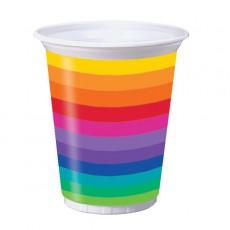 Rainbow Plastic Cups
