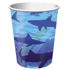 Shark Splash Blue  Paper Cups