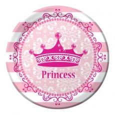 Princess Celebrations Pink Lunch Plates