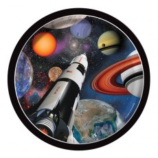 Space Blast Paper Lunch Plates