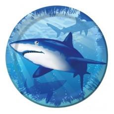 Shark Splash Light Blue  Lunch Plates