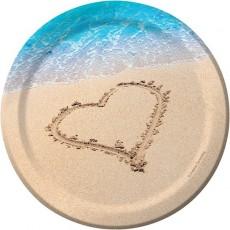 Hawaiian Beach Love Lunch Plates