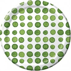 Elise Designs Verdi Green  Lunch Plates