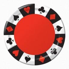 Casino Night Card Night Lunch Plates