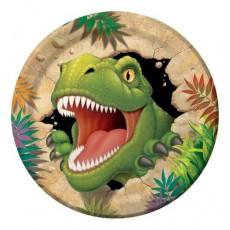 Round Dinosaur Dino Blast Paper Dinner Plates Pack of 8