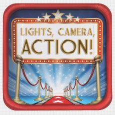 Hollywood Lights! Camera! Action! Paper Dinner Plates