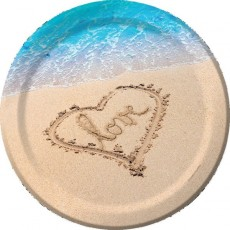 Hawaiian Beach Love Dinner Plates