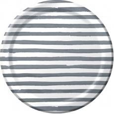 Elise Designs Platinum Silver  Banquet Plates