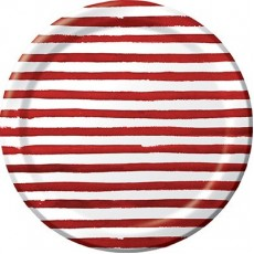 Elise Designs Garnet Red  Banquet Plates