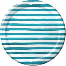 Elise Designs Peacock Blue  Banquet Plates