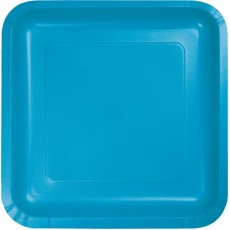 Blue Turquoise Paper Lunch Plates
