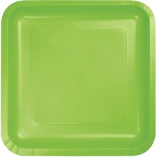 Green Fresh Lime Paper Lunch Plates