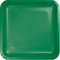 Green Emerald  Lunch Plates