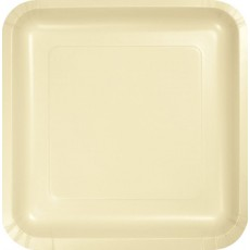 Ivory Party Supplies - Lunch Plates Paper