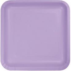 Lavender Party Supplies - Lunch Plates Luscious Lavender Square