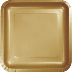 Gold Glittering  Lunch Plates