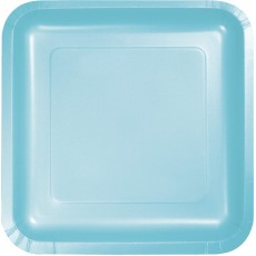 Blue Pastel Paper Lunch Plates