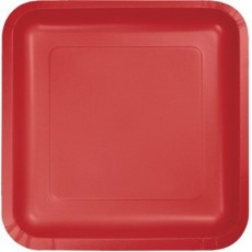 Red Classic  Lunch Plates