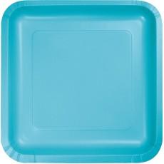 Blue Bermuda Paper Lunch Plates