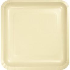 Ivory Paper Dinner Plates