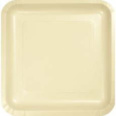 Ivory Party Supplies - Dinner Plates Paper Square